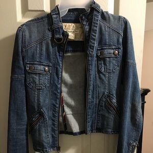 Vintage Abercrombie and Fitch moto jacket